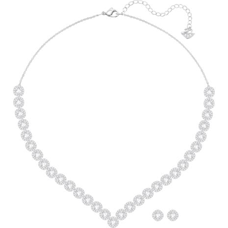 Angelic Square 套裝, 白色, 鍍白金色 - Swarovski, 5364318
