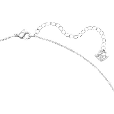 Set Angelic Square, bianco, Placcatura rodio - Swarovski, 5364318