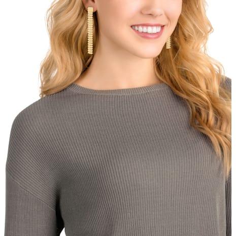Fit Long Pierced Earrings, Golden, Gold-tone plated - Swarovski, 5364807