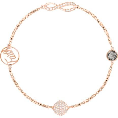 Swarovski Remix Collection Infinity Strand, Черный Кристалл, Покрытие оттенка розового золота - Swarovski, 5365734