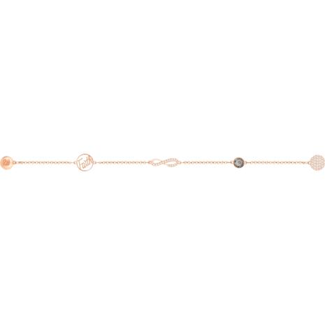 Swarovski Remix Collection Infinity Strand, negro, Baño en tono Oro Rosa - Swarovski, 5365734