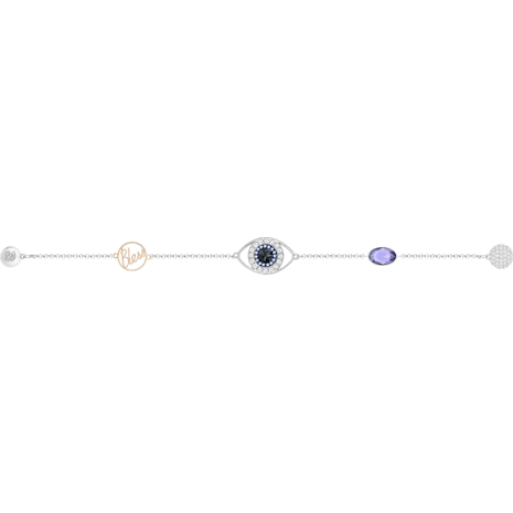 Swarovski Remix Collection Evil Eye Strand, Пурпурный Кристалл, Отделка из разных металлов - Swarovski, 5365749