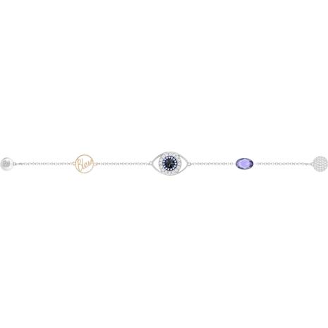 Swarovski Remix Collection Evil Eye Strand, violeta, Combinación de acabados metálicos - Swarovski, 5365749