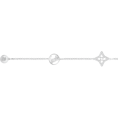 Swarovski Remix Collection Star Strand, White, Rhodium plated - Swarovski, 5365752