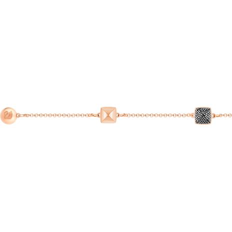 Swarovski Remix Collection Spike Strand, Black, Rose-gold tone plated - Swarovski, 5365753