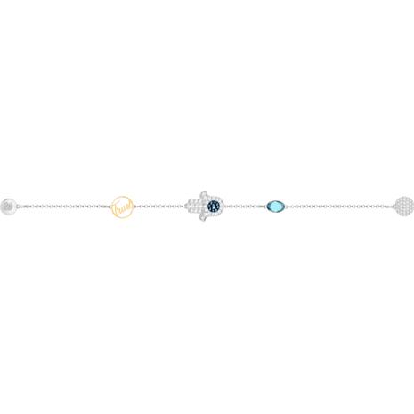 Swarovski Remix Collection Hamsa Hand Strand, azul, Combinación de acabados metálicos - Swarovski, 5365759