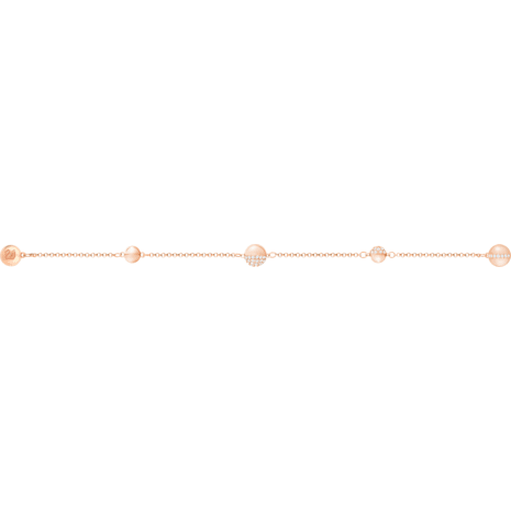 Swarovski Remix Collection Round Strand, Белый Кристалл, Покрытие оттенка розового золота - Swarovski, 5365763