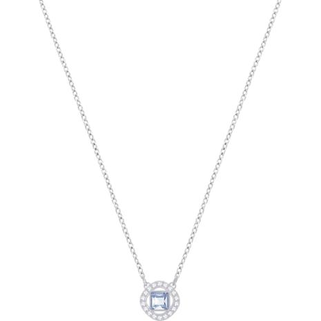 Angelic Square Pendant, Blue, Rhodium plating - Swarovski, 5368147