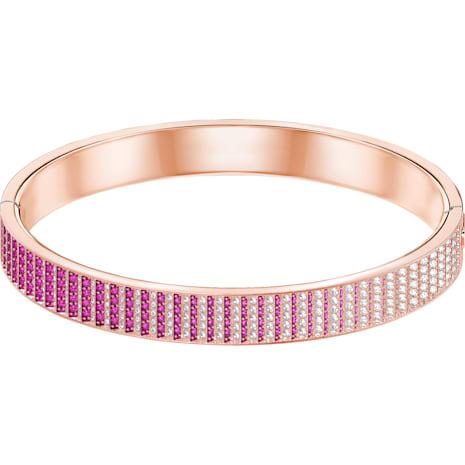 Luxury Bangle, Pink, Rose-gold tone plated - Swarovski, 5368563