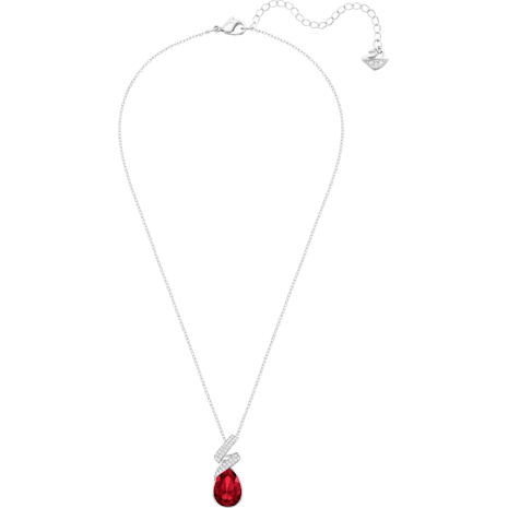 Laureen 鏈墜, 紅色, 鍍白金色 - Swarovski, 5368782