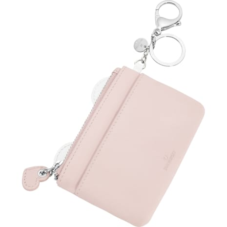 Kris Card Bag Charm, Pink, Stainless Steel - Swarovski, 5373015