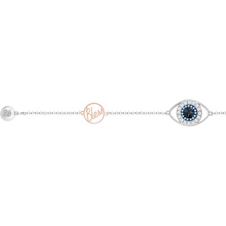 Swarovski Remix Collection Evil Eye Strand, violet, Finition mix de métal - Swarovski, 5373230