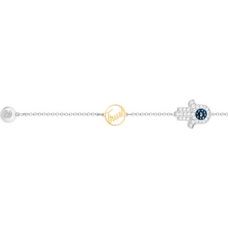 Swarovski Remix Collection Hamsa Hand Strand, Blue, Mixed metal finish - Swarovski, 5373249