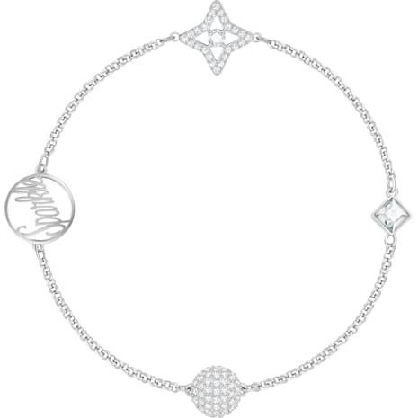 Swarovski Remix Collection Star Strand, 白色, 鍍白金色 - Swarovski, 5373257