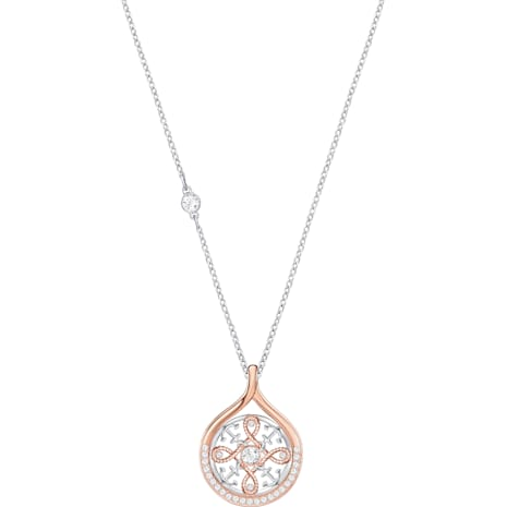 Humanist Anchor and Knot Pendant, White, Mixed metal finish - Swarovski, 5373656