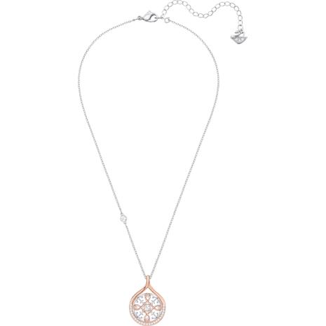 Pendentif Humanist Anchor and Knot, blanc, Finition mix de métal - Swarovski, 5373656