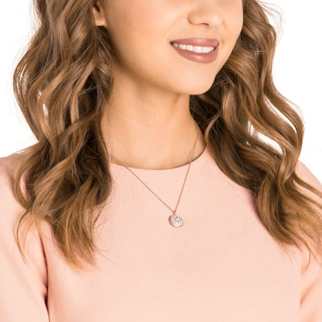 Locket Pendant, Pink, Rose-gold tone plated - Swarovski, 5374560