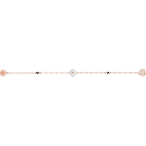 Swarovski Remix Collection Clover Strand, weiss, Rosé vergoldet - Swarovski, 5375185