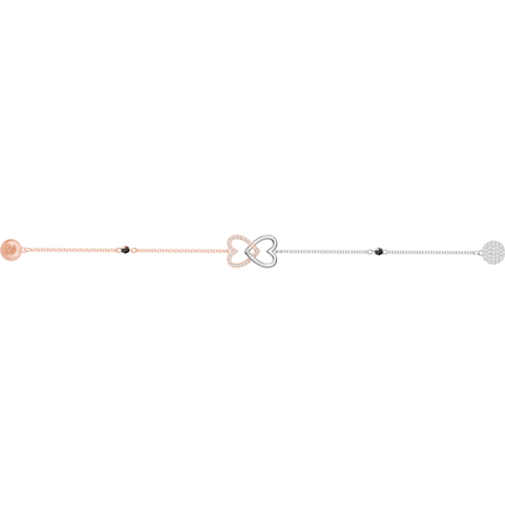 Swarovski Remix Collection Forever Strand, bianco, Mix di placcature - Swarovski, 5375199