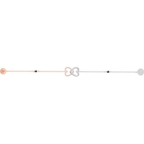 Swarovski Remix Collection Forever Strand, blanc, Finition mix de métal - Swarovski, 5375199