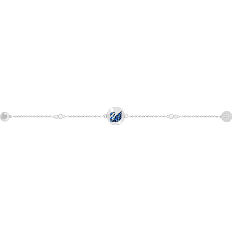 Swarovski Remix Collection Swan Strand, Blue, Rhodium plated - Swarovski, 5375252