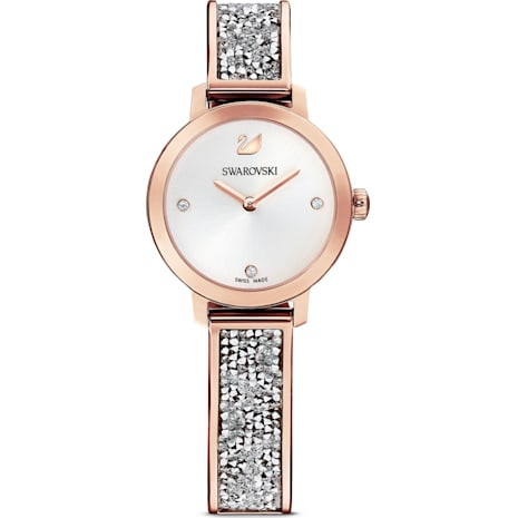 Cosmic Rock Watch, Metal bracelet, Gray, Rose-gold tone PVD - Swarovski, 5376092