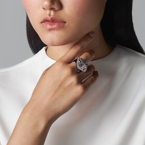 Moselle Ring, Black rhodium plating - Swarovski, 5377387