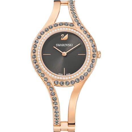 Montre Eternal, Bracelet en métal, gris foncé, PVD doré rose - Swarovski, 5377551