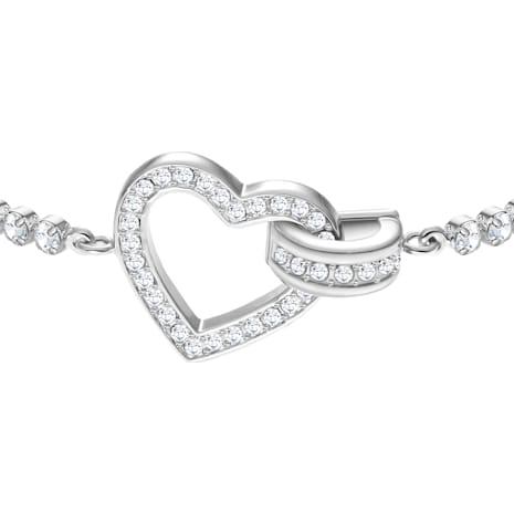 Bracelet Lovely, blanc, Métal rhodié - Swarovski, 5380704