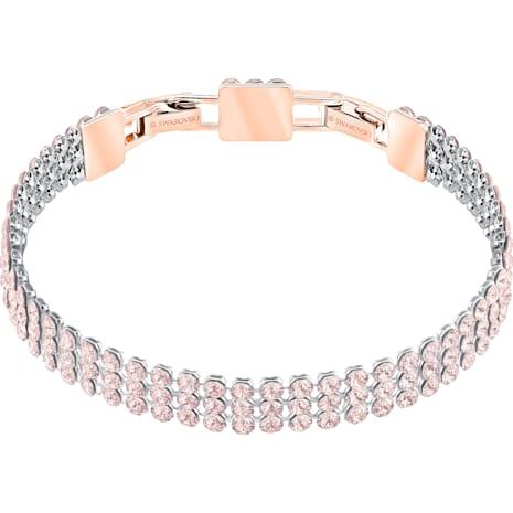 Pulsera Fit, rosa, Baño en tono Oro rosa - Swarovski, 5381139