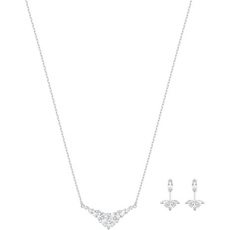 Lady Set, White, Rhodium plated - Swarovski, 5390188
