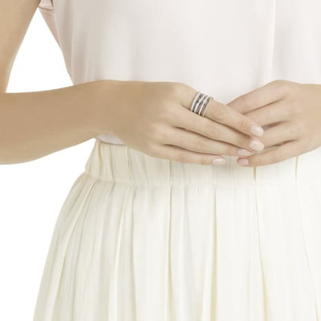 Lollypop Ring, schwarz, Rosé vergoldet - Swarovski, 5390913