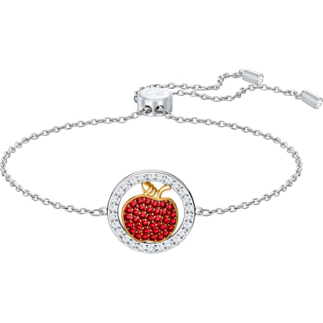 Lena Apple Bracelet, Red, Mixed plating - Swarovski, 5394512