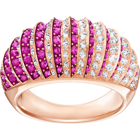 Luxury Domed Ring, Pink, Rose-gold tone plated - Swarovski, 5395810