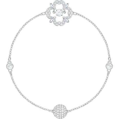 Swarovski Remix Collection Sparkling Dance Flower Strand, weiss, Rhodiniert - Swarovski, 5396228