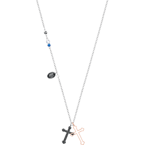 Swarovski Symbolic Mini Cross Pendant, Multi-colored, Mixed metal finish - Swarovski, 5396881