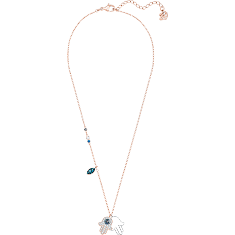 Swarovski Symbolic Hamsa Hand Pendant, Multi-colored, Mixed metal finish - Swarovski, 5396882
