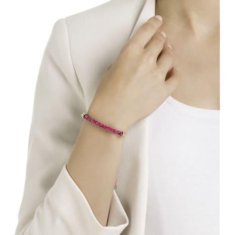Long Beach Bracelet, Pink, Rose-gold tone plated - Swarovski, 5404434