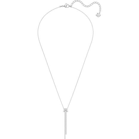 Lifelong Y Pendant, White, Rhodium plated - Swarovski, 5408435