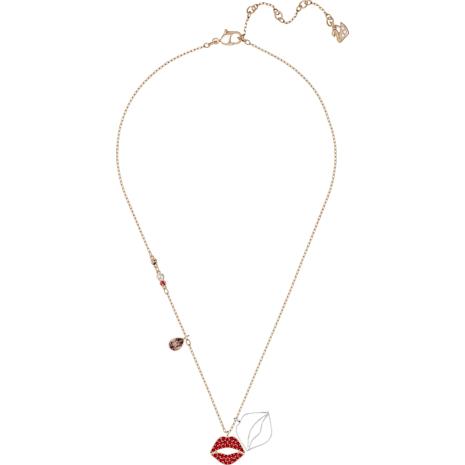 Mine Lip Necklace, Multi-colored, Mixed metal finish - Swarovski, 5409468