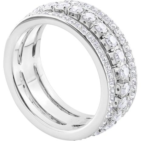 Further Ring, weiss, Rhodiniert - Swarovski, 5409642