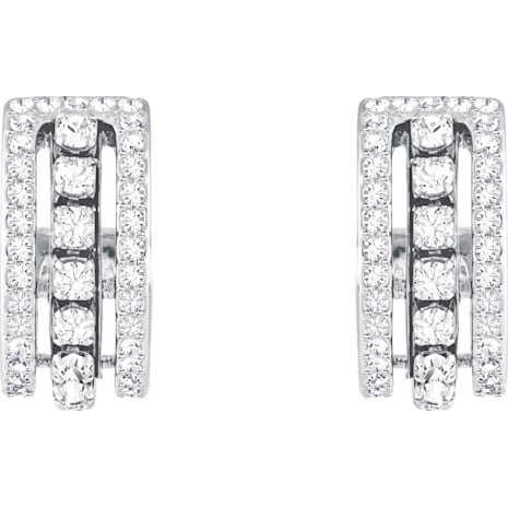 Further Серьги, Белый Кристалл, Родиевое покрытие - Swarovski, 5409658