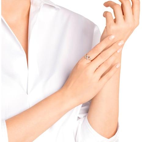 Anillo Mayfly, blanco, Baño en tono Oro Rosa - Swarovski, 5409695