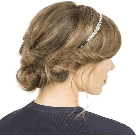 Louison Headband, White, Rhodium plating - Swarovski, 5410681