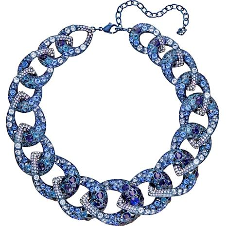 Tabloid Halskette, mehrfarbig, Blaues PVD-Finish - Swarovski, 5411006