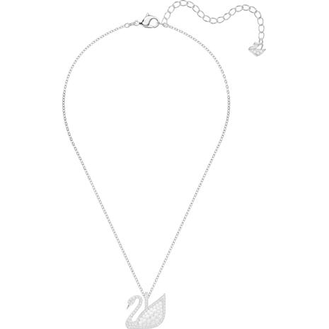 Colgante Swarovski Iconic Swan, blanco, Baño de Rodio - Swarovski, 5411791