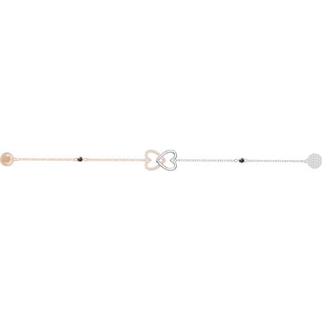 Swarovski Remix Collection Forever Strand, blanc, Finition mix de métal - Swarovski, 5412330