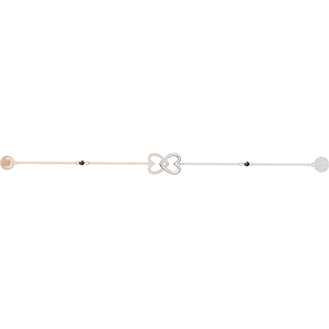 Swarovski Remix Collection Forever Strand, blanco, Combinación de acabados metálicos - Swarovski, 5412330