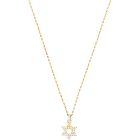Pendentif Star of David, blanc, Métal doré - Swarovski, 5413412