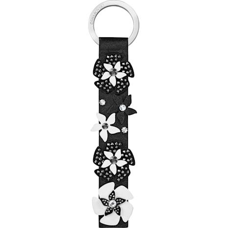 Mazy Key Ring, Black, Stainless steel - Swarovski, 5413901